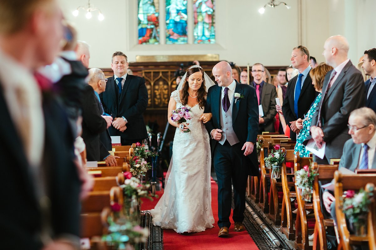 Bride arrives at Latimer Estate church