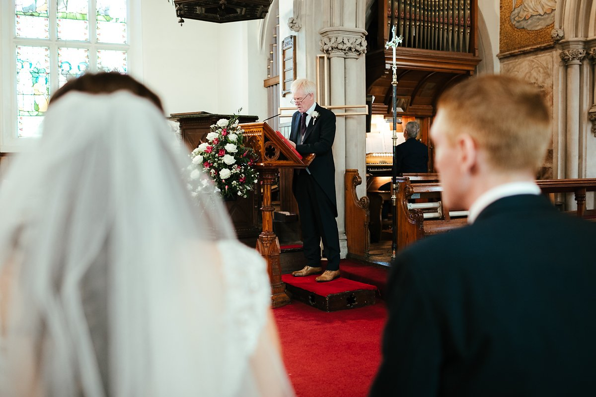 Autumn wedding ceremony at Latimer Estate