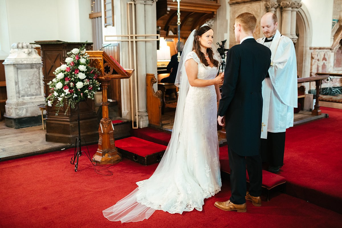 Latimer estate church wedding autumn ceremony photos