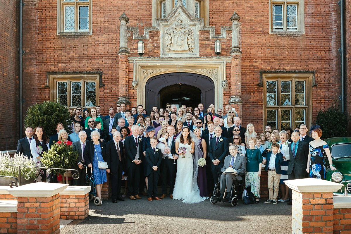 Location ideas for Latimer House wedding group photos