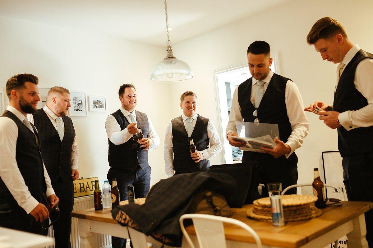Boys getting ready for a wedding day