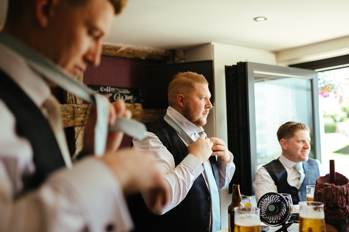 A few beers before a wedding ceremony