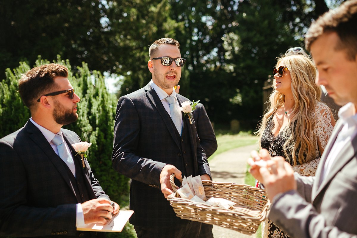 How to walk out of a wedding church ceremony