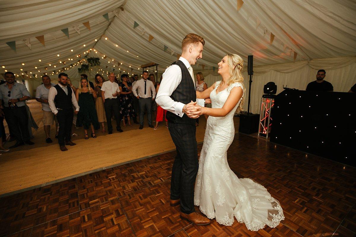 Meadowbrook Farm wedding first dance photos