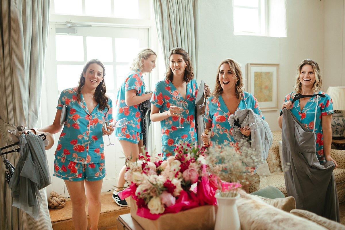 Bright floral pj set for bridesmaids