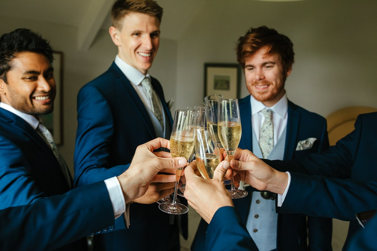 Drink champagne on your wedding day