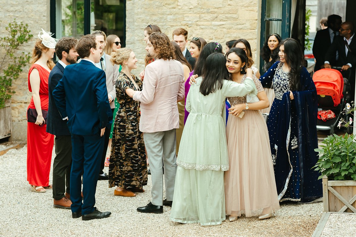 Greeting of the guests at Merriscourt barn