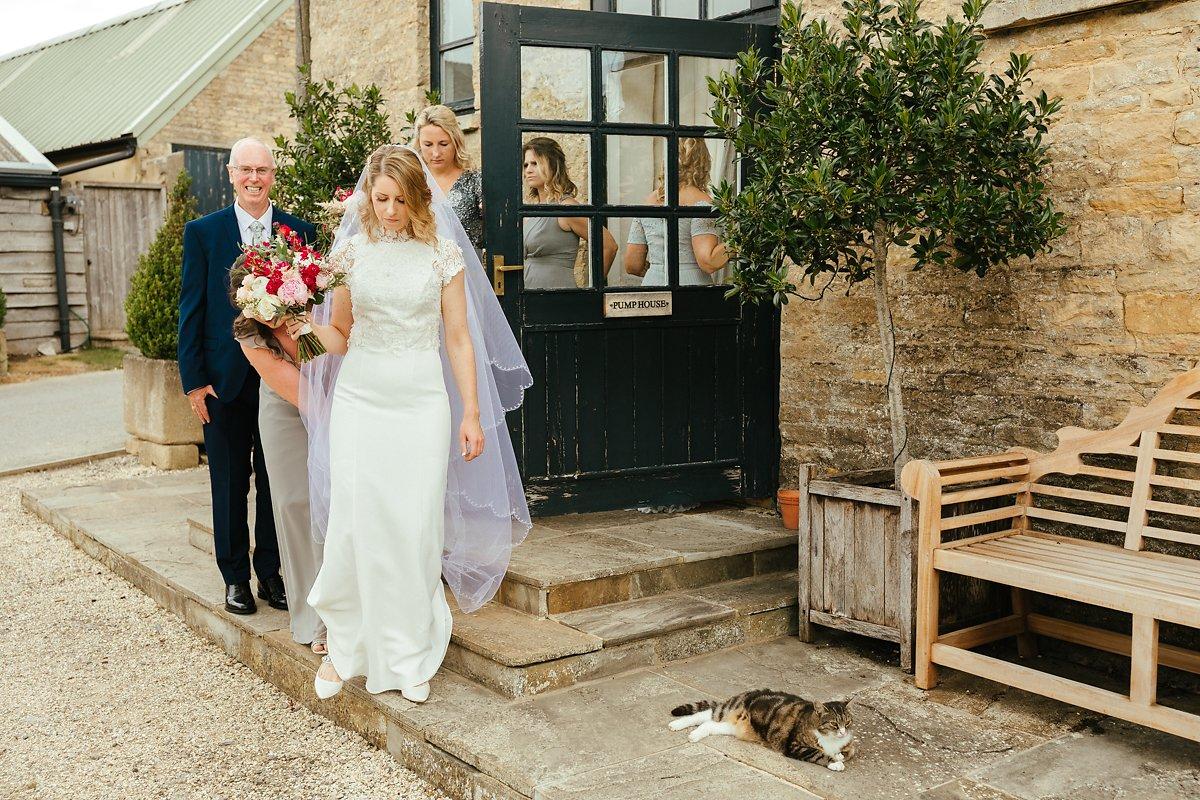 Cat casually enjoyed the wedding day