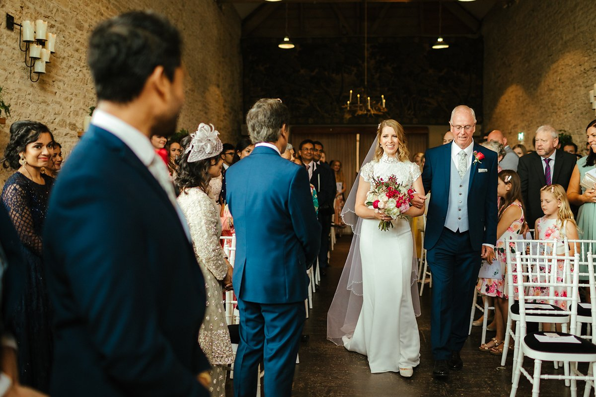 Wedding photography at Merrsicourt barn