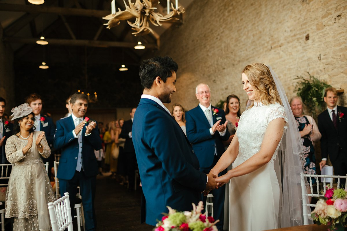 Wedding ceremony at the Stone Barn