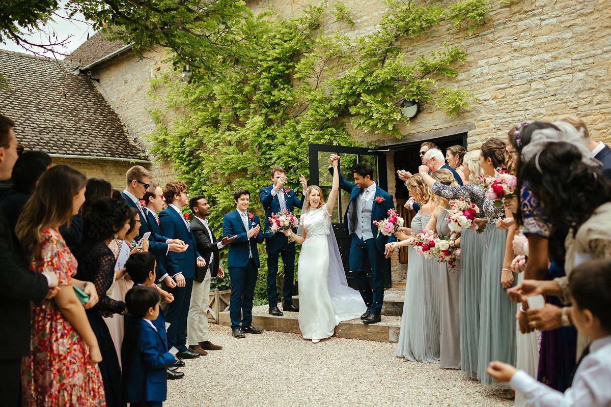 Where is the best place to do confetti at Merriscourt barn?