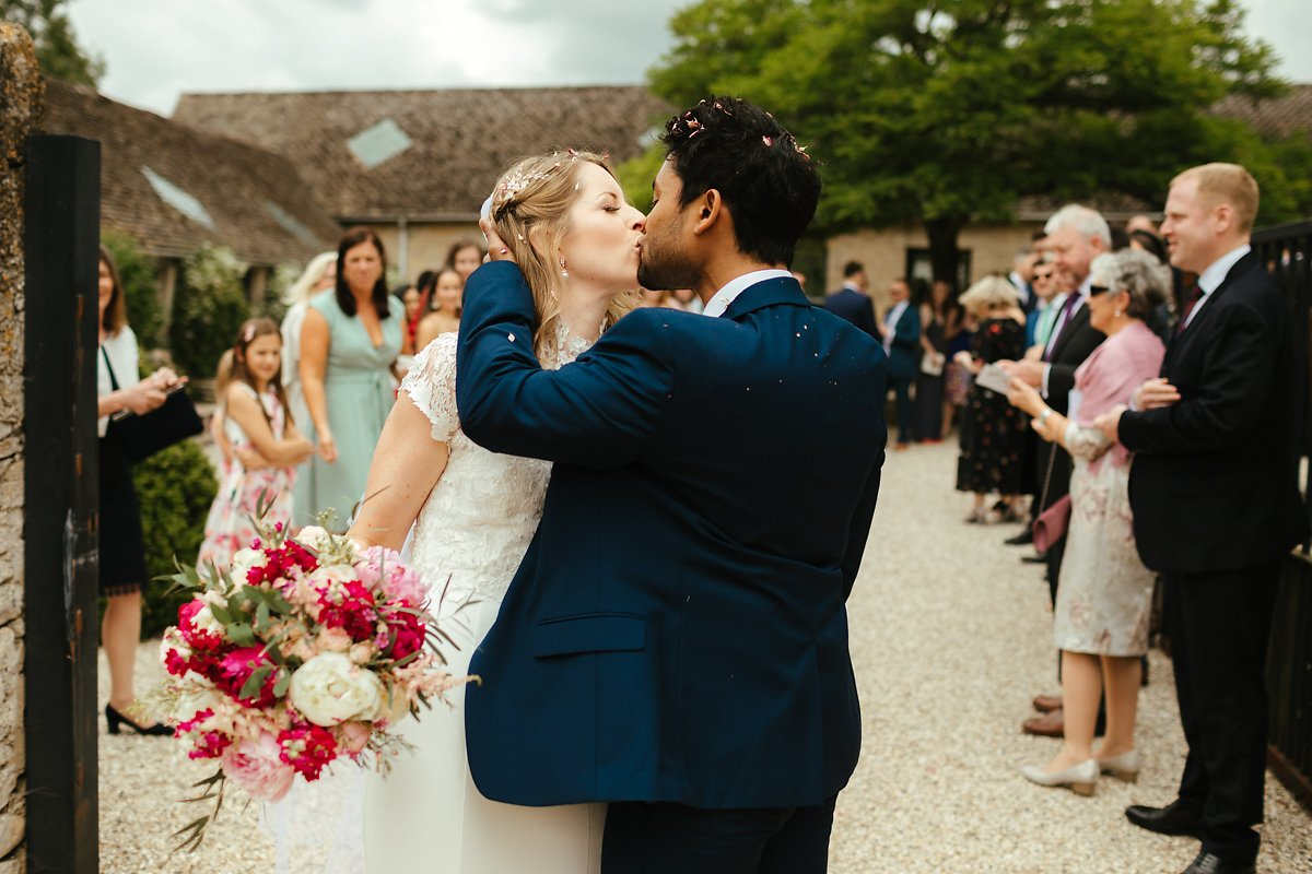 Wedding reception at Merriscourt courtyard