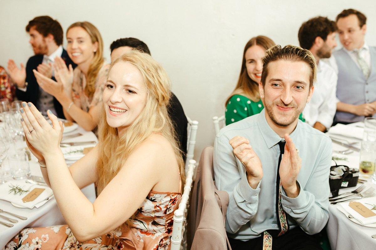 Wedding guests at Merriscourt venue