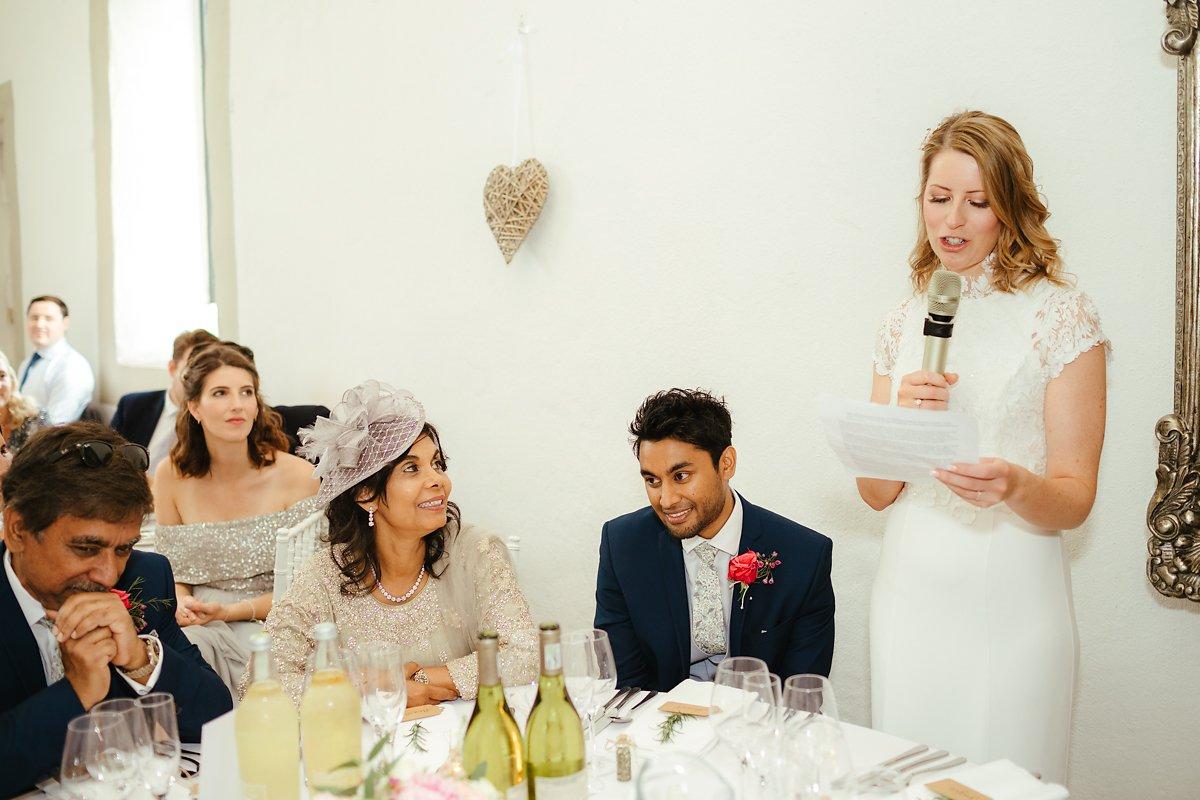Should bride do a speech at a wedding?