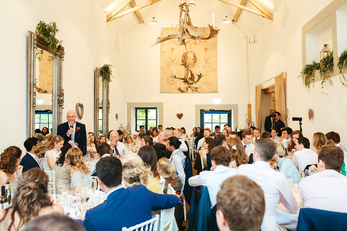 Speeches in the White Barn at Merrscourt venue