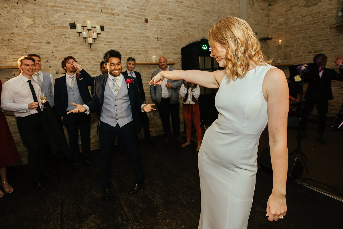 Bride and groom first dance at Merriscourt venue