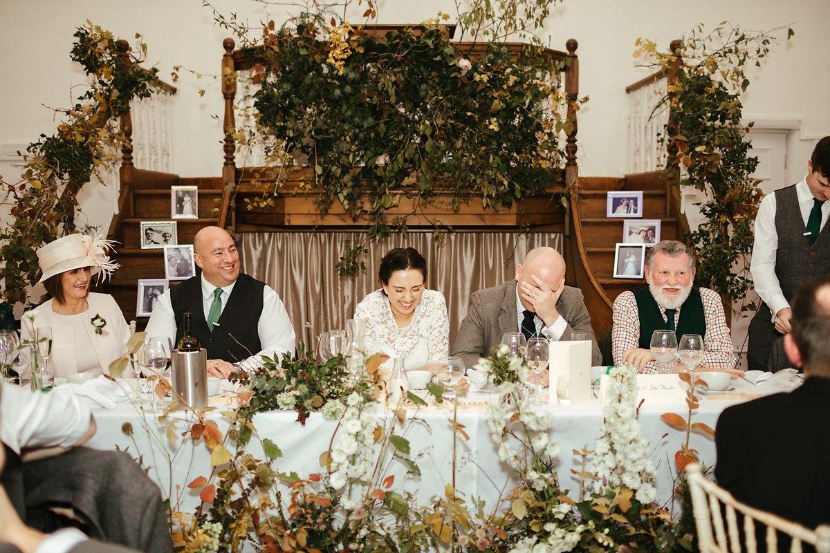 Autumnal wedding flower arrangement in Bucks