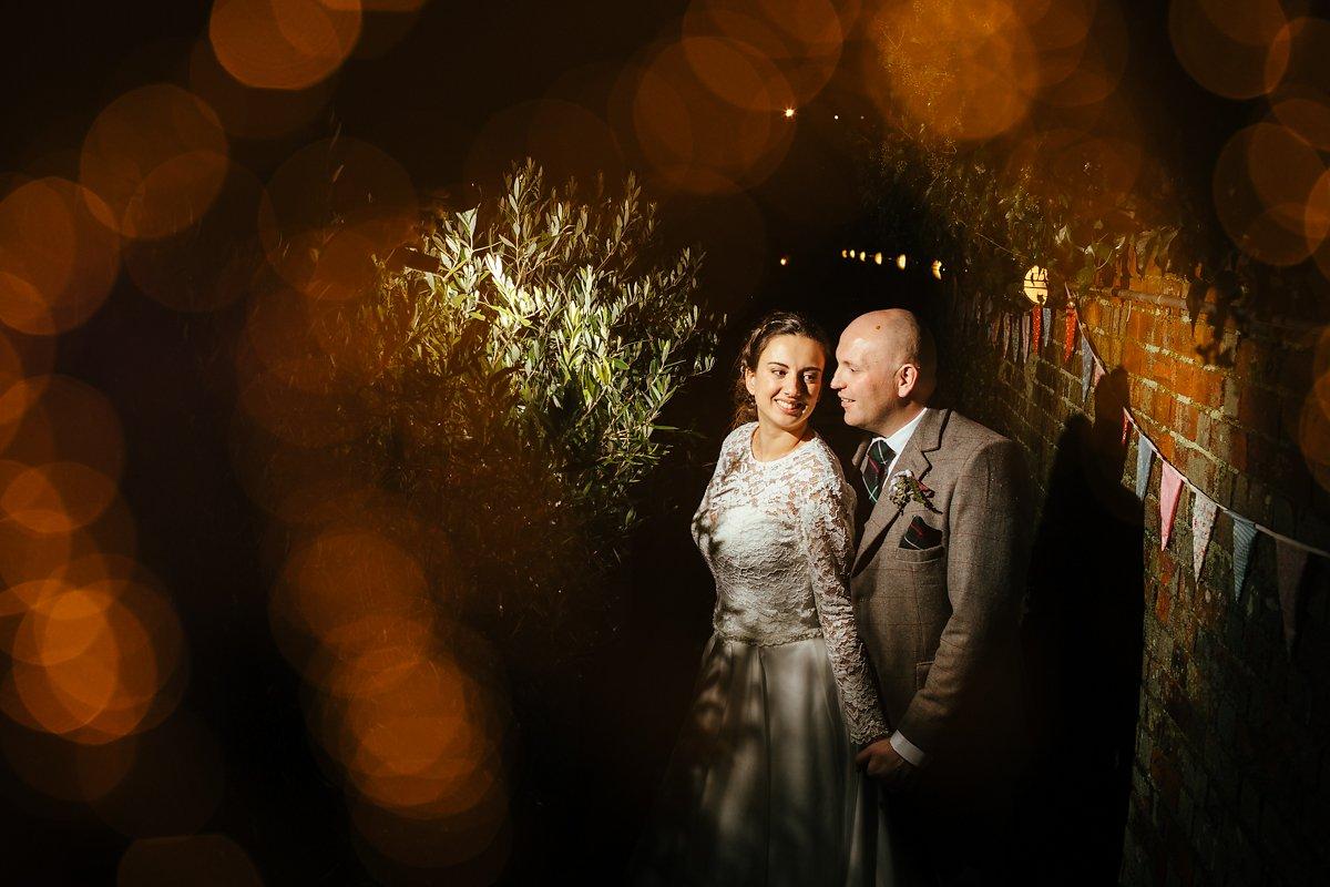 Creative wedding evening portraits