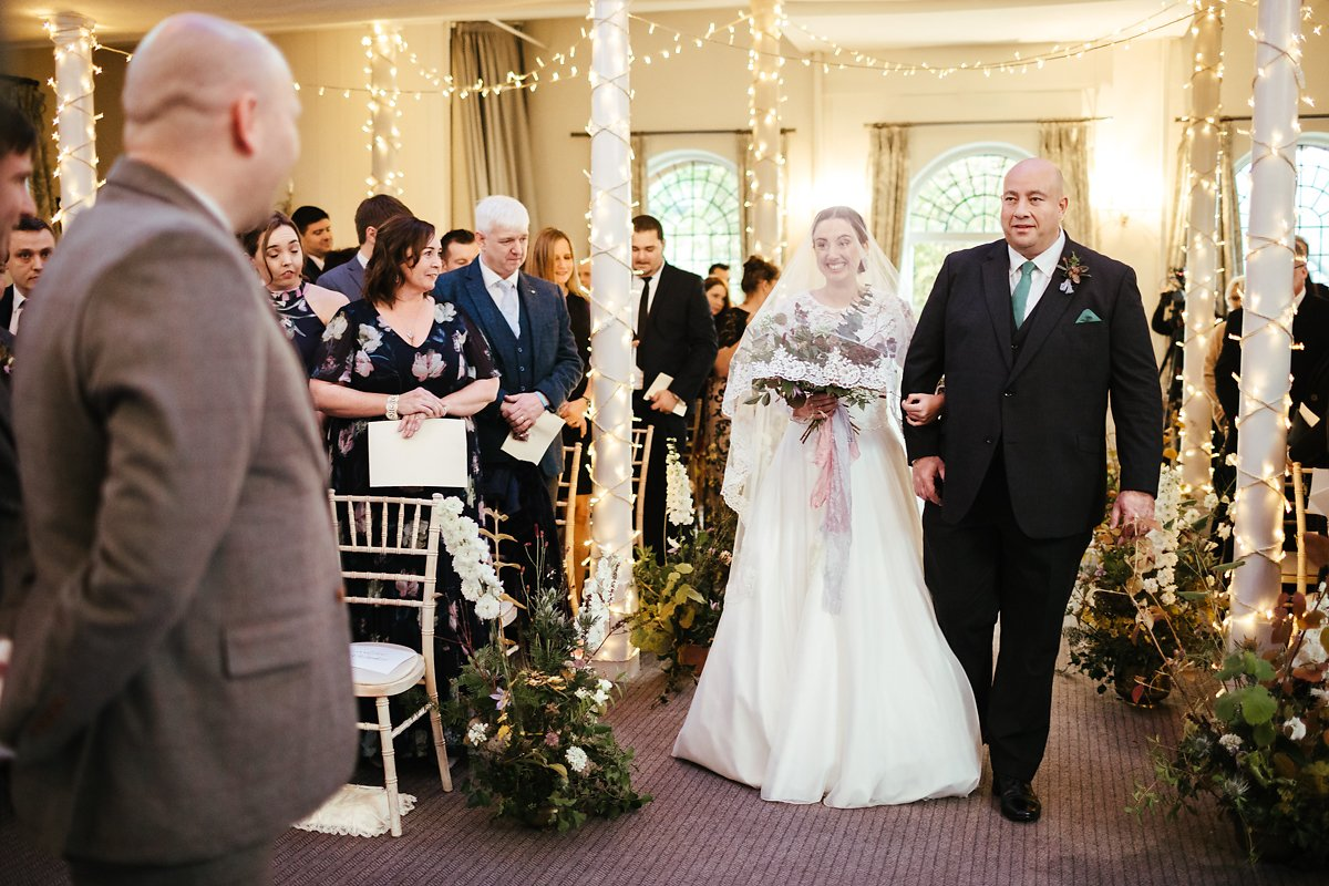 Bride entrance at Kings Chapel Old Amersham