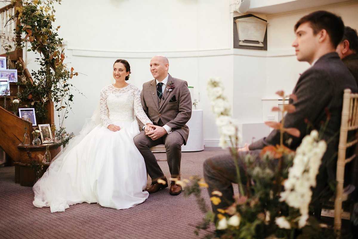 Wedding ceremony at Kings Chapel Old Amersham