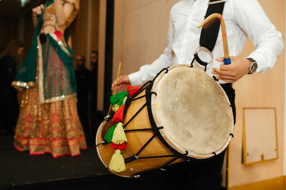 Dhol player at Watford