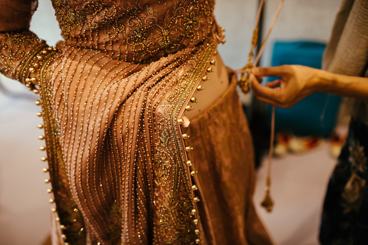 Golden Indian wedding dress