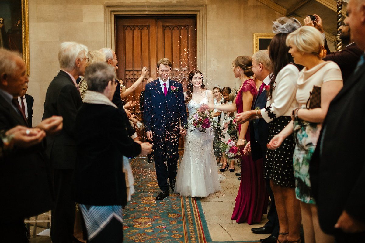 Confetti inside Ashridge House photo