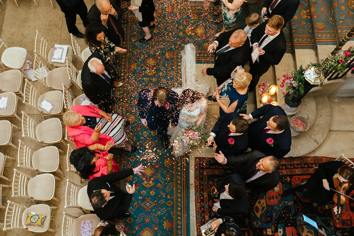 Creative confetti photos at Ashridge House