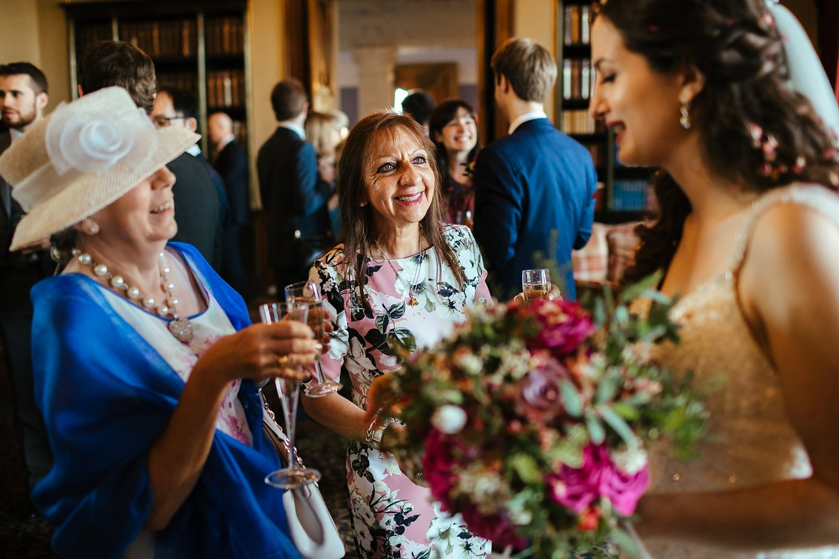 Documentary style wedding reception photography