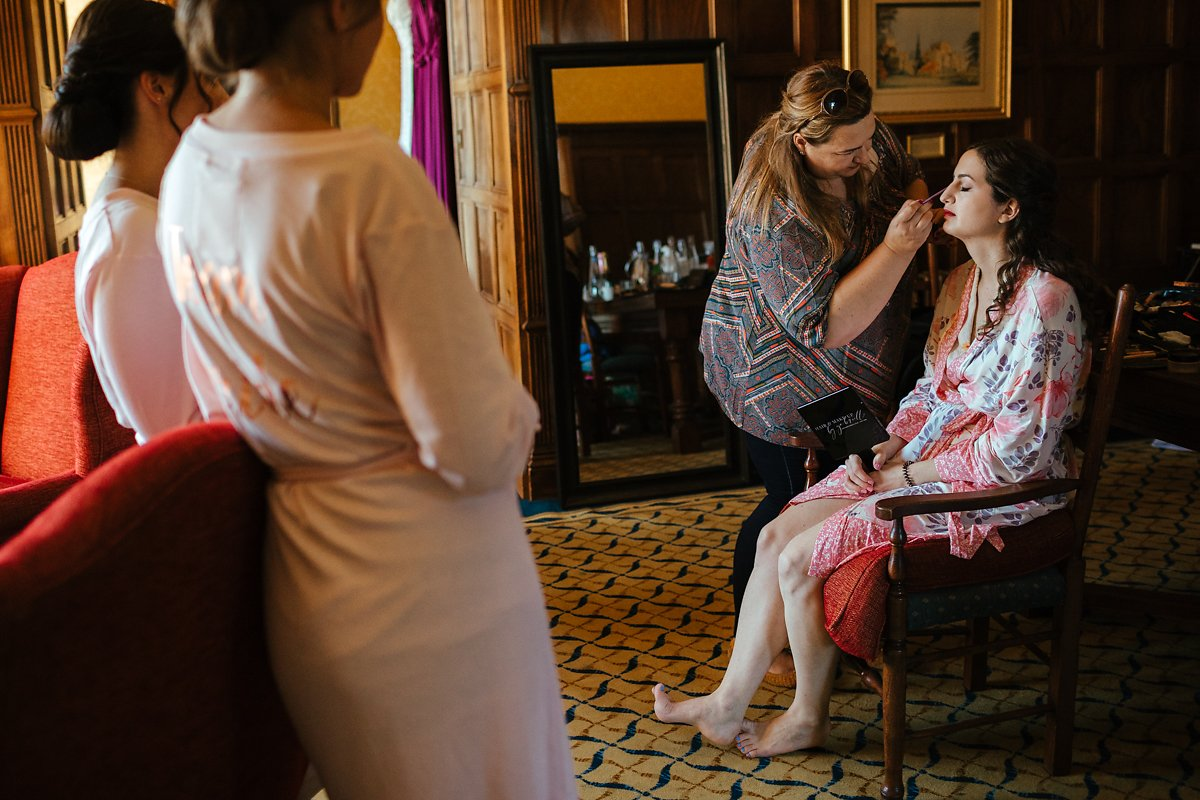 Hair and make-up at a country house