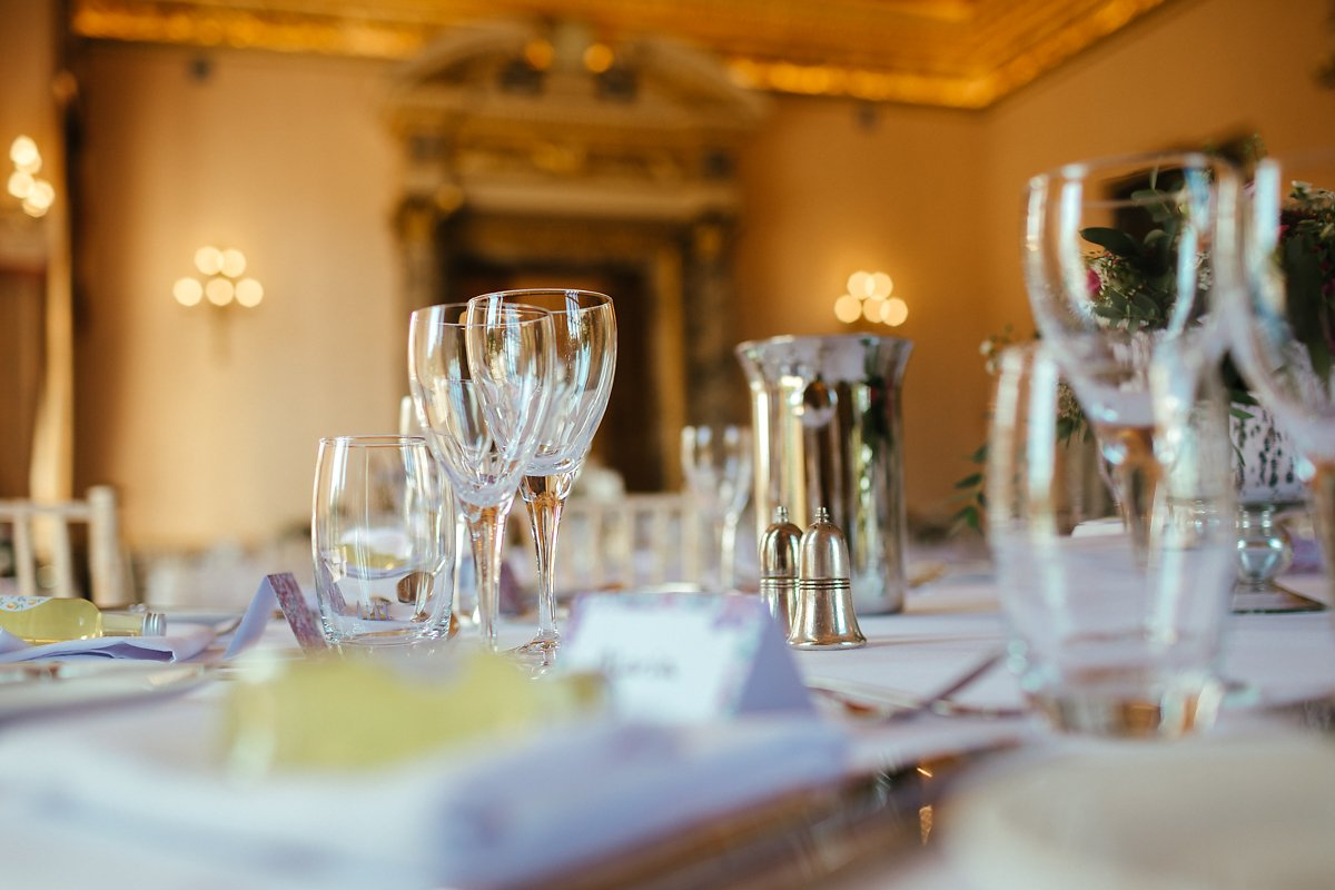 Elegant wedding table decoration in a country house