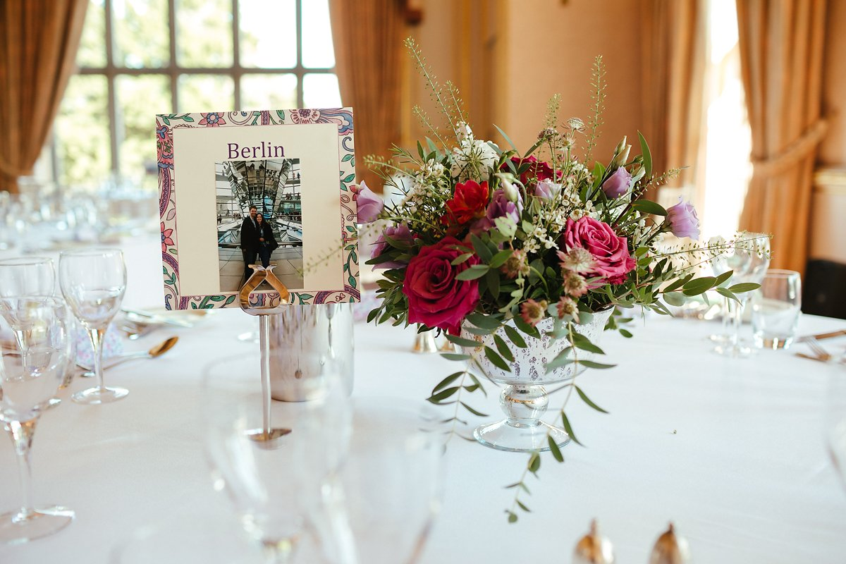 Wedding table decorations in a country house