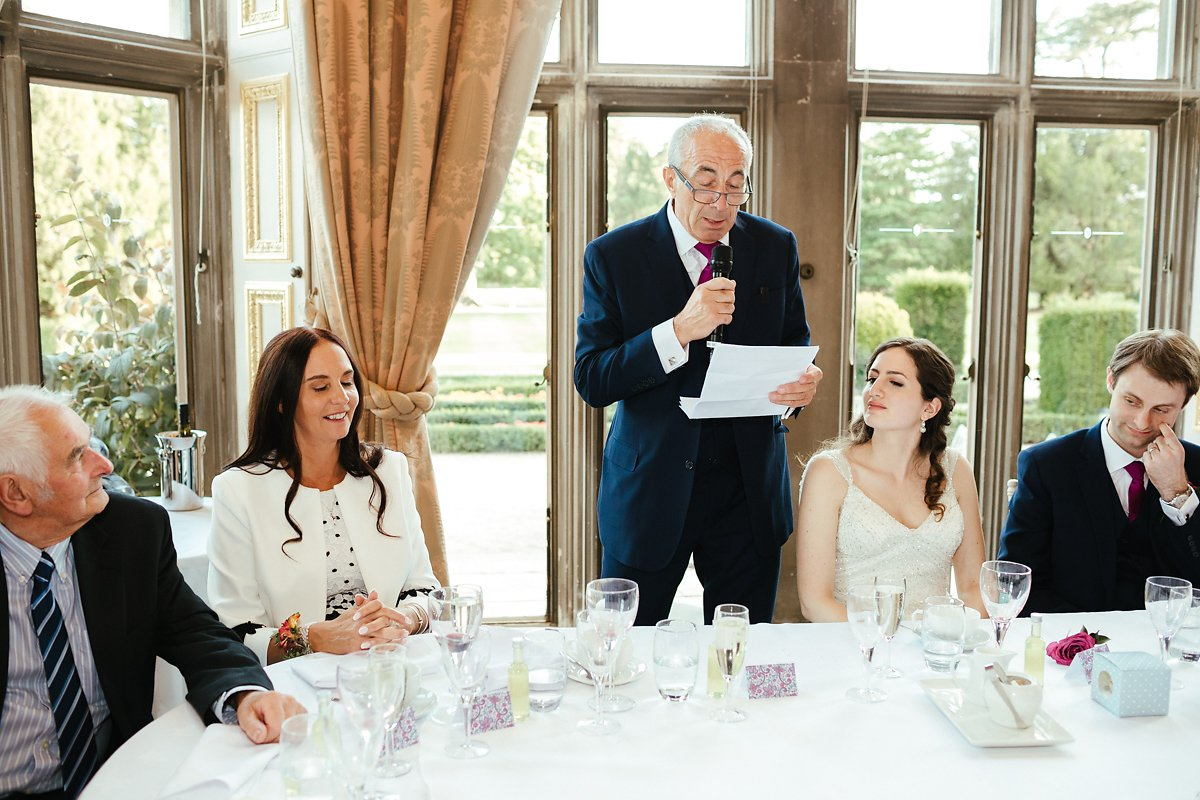 Grand venue for a wedding breakfast photography