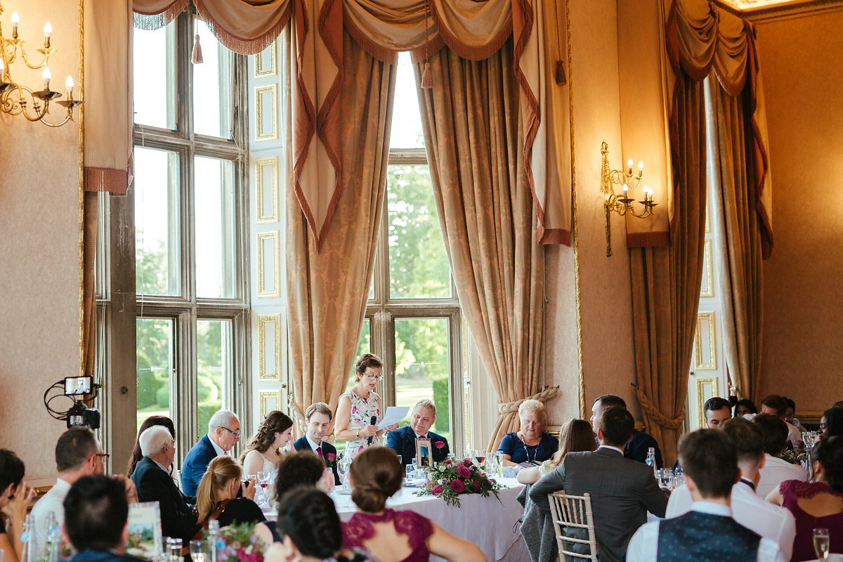 Wedding Breakfast at a grand wedding venue