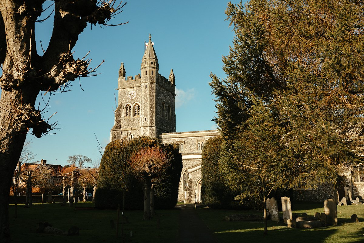 St Mary's church in Old Amersham side photo