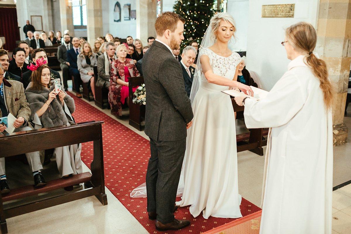Church wedding ceremony in Old Amersham