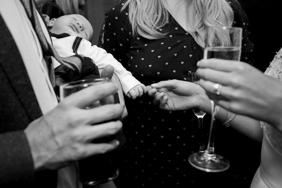 Black and white Old Amersham wedding photography