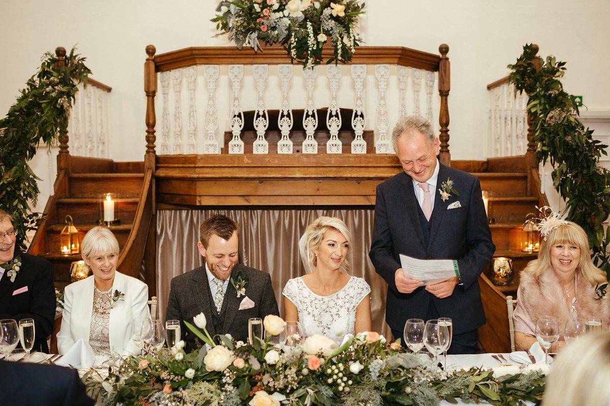 Dads speech at a wedding