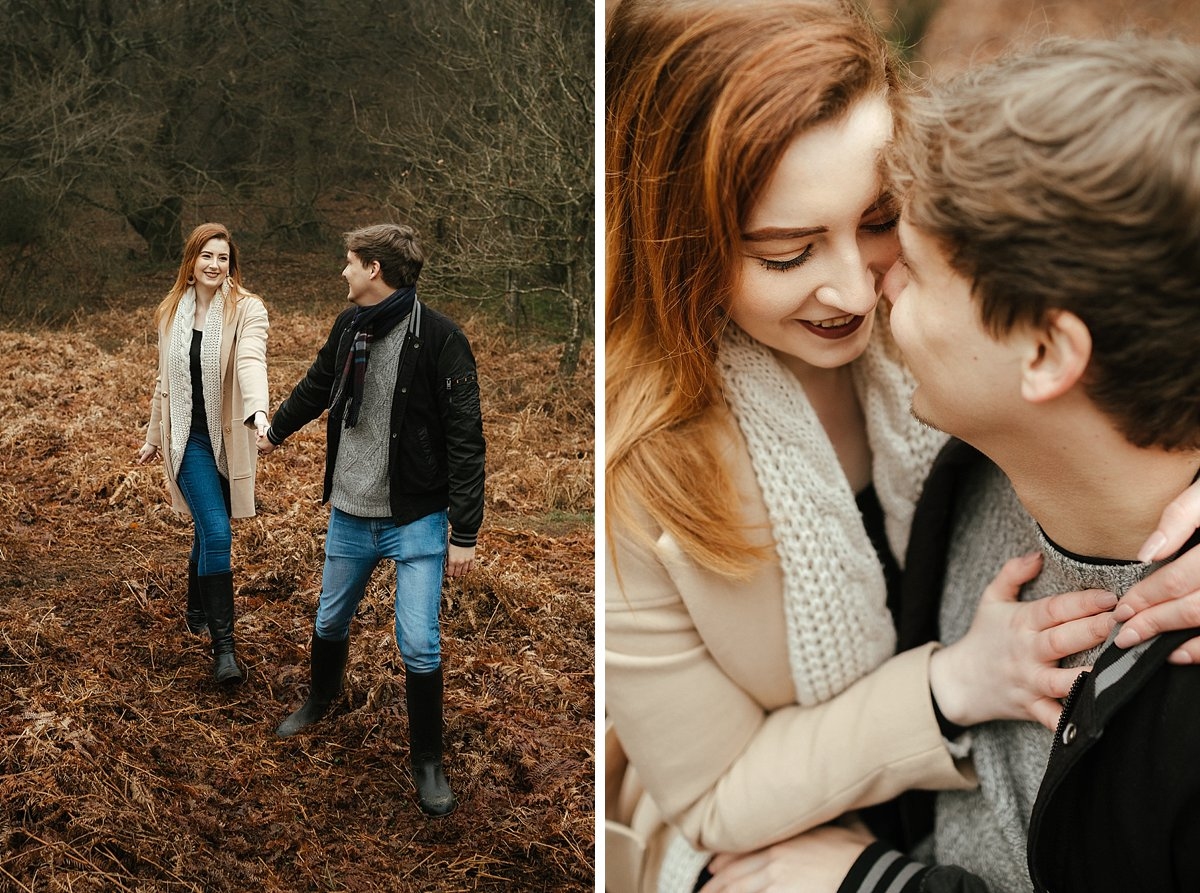 Coombe Hill, foggy woodland photoshoot