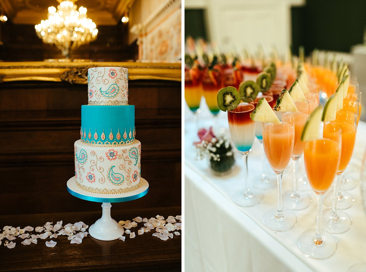 Vibrant wedding day soft drinks