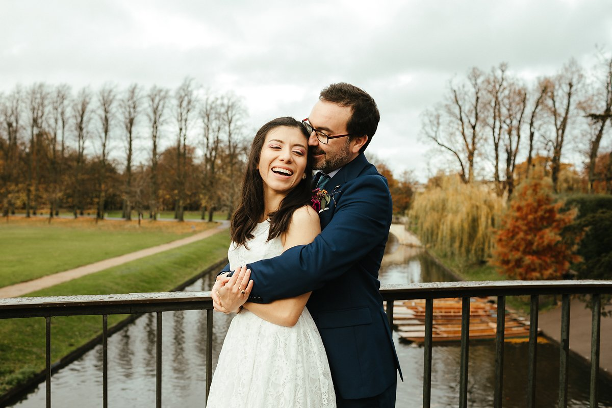 Wedding photography at River Cam