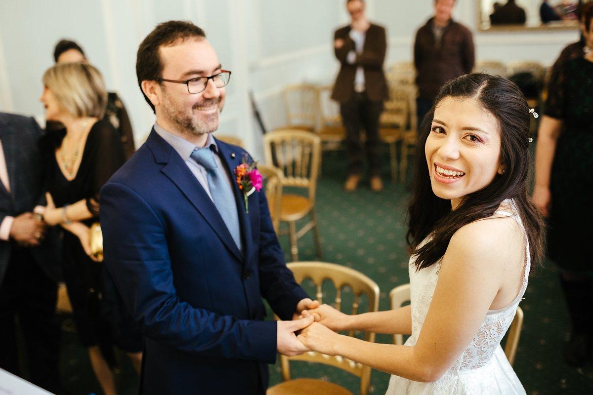 Wedding ceremony at Cambridge Town Hall