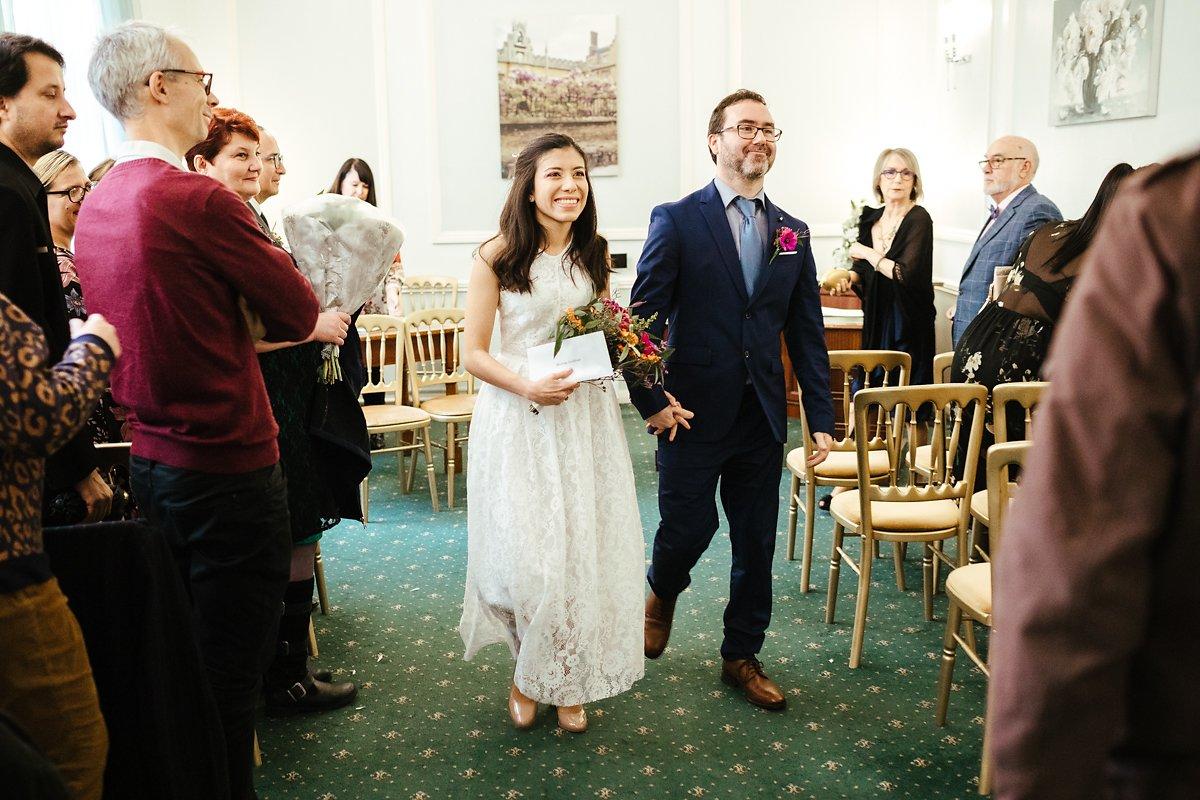 Autumn wedding at Cambridge Town Hall