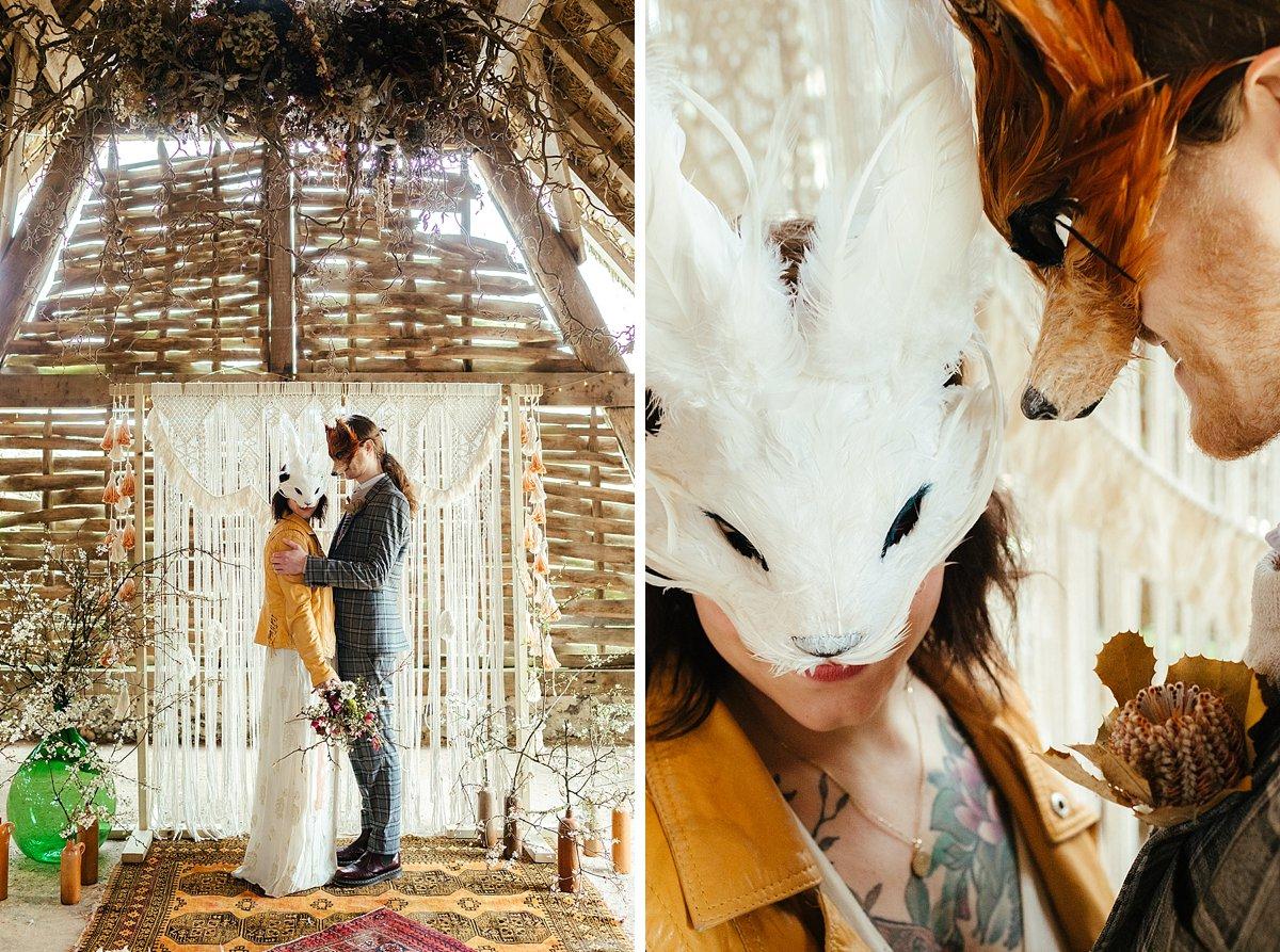Wedding masks by Curious Fair