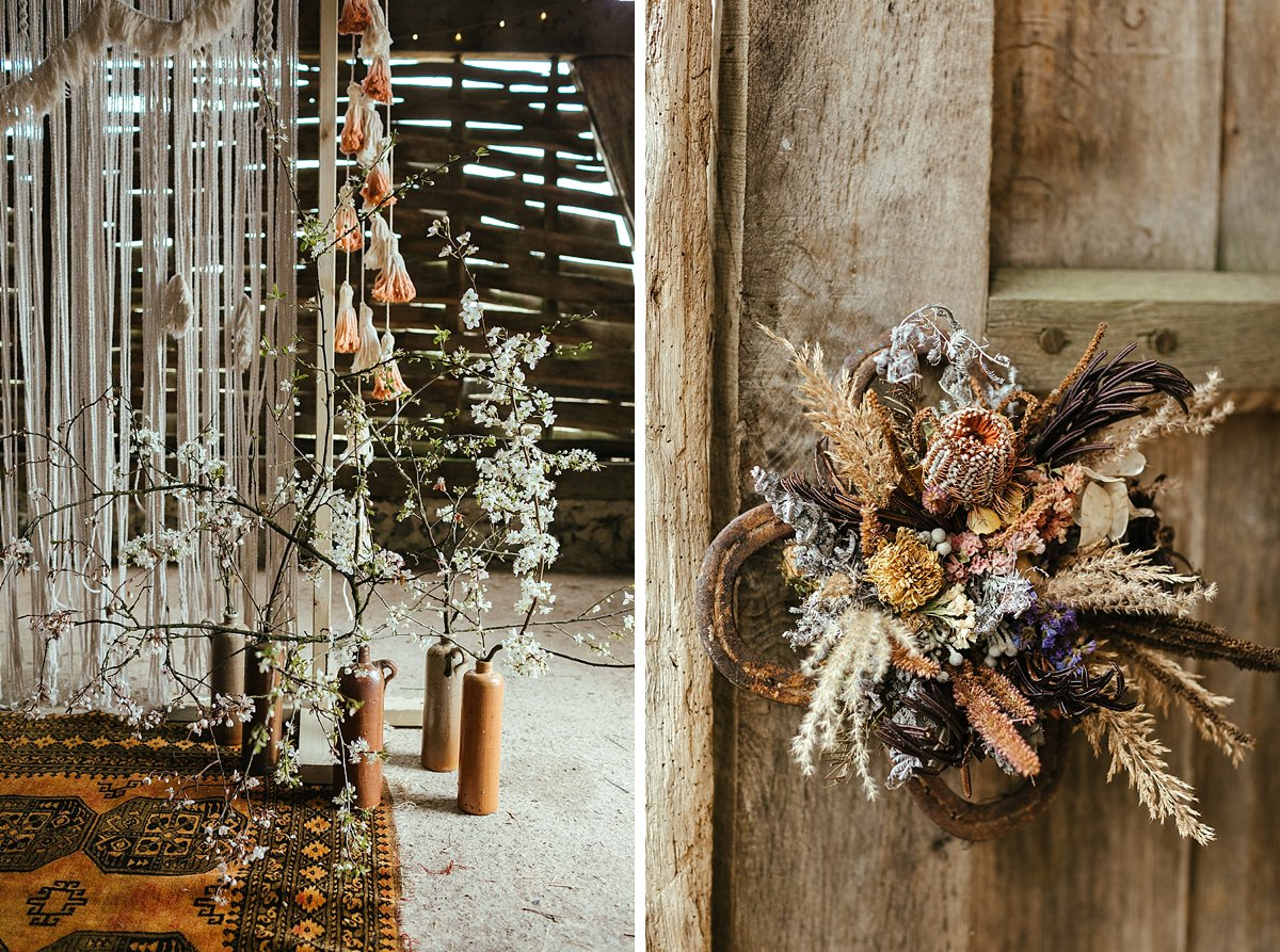 Rustic venue styling by Loubelle Macrame