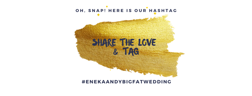 Best Hashtag Banner for a Wedding Day