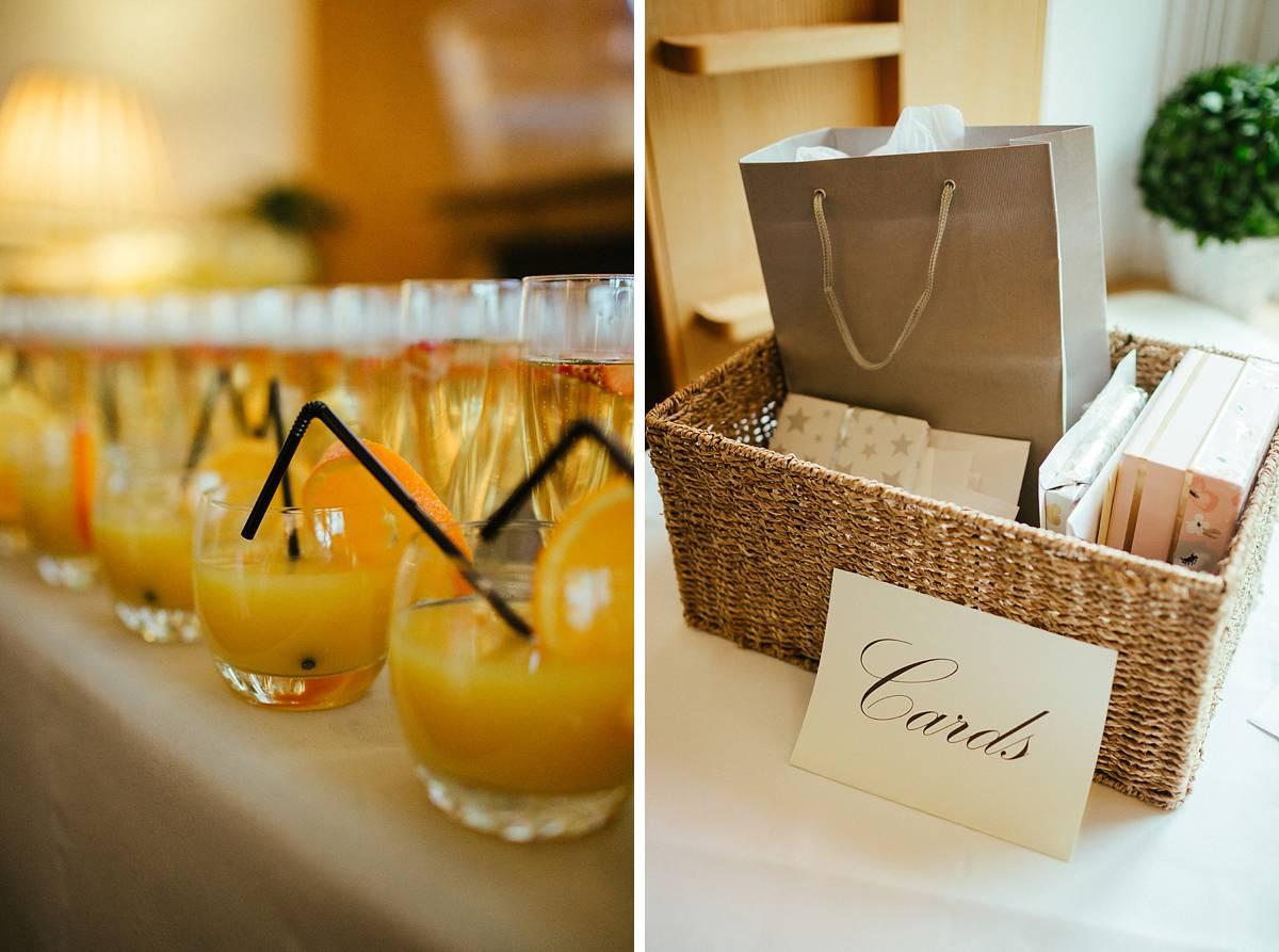 Refreshments before wedding ceremony