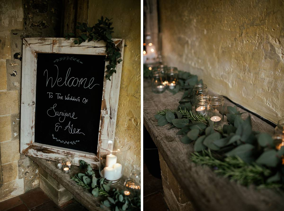 Green church wedding decorations