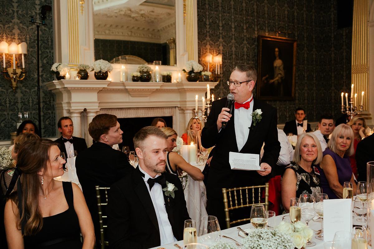 Wedding speech at Claridges in London
