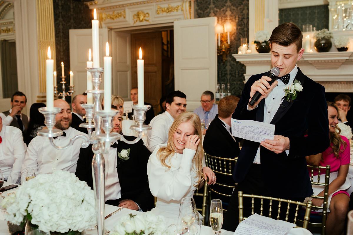 Wedding speeches at Claridges in London